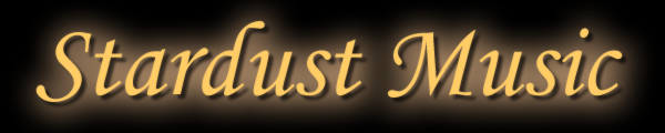 Banner logo from Stardust Music - jazz, swing and classical music based in Bristol, Bath and Oxford - creating the perfect atmosphere for your wedding or event.